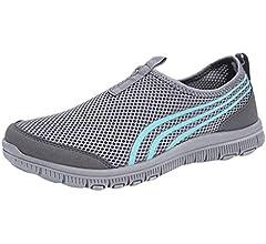 LANSKIRT Zapatillas Running de Mujer Sin Cordones Zapatos de Verano 2019 Velcro Moda Sandalias de Antideslizantes Zapatillas Deportivas para Correr Calzado Comodo Transpirables (Negro, 34 EU): Amazon.es: Zapatos y complementos
