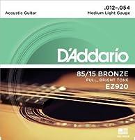 D'Addario EZ920 AMERICAN BRONZE EZ Medium Light (12-54) ダダリオ アコースティックギター弦 85/15 EZ-920 【国内正規品】