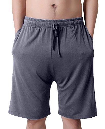 Hombres Pijamas de Albornoz Ba/ño Sat/én de Verano Ropa de Dormir Pantalones Cortos de Tallas Grandes para Hombre AIEOE