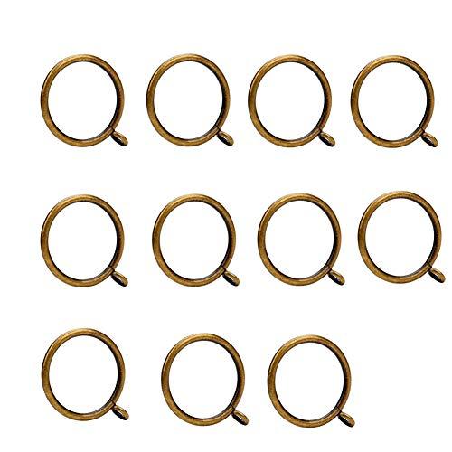 iTop3te Curtain Rings 1.5 Inch Bronze, 14pcs Rustproof Metal Drapery Curtain Rings Inner Diameter 1.5 Inch with Eyelets