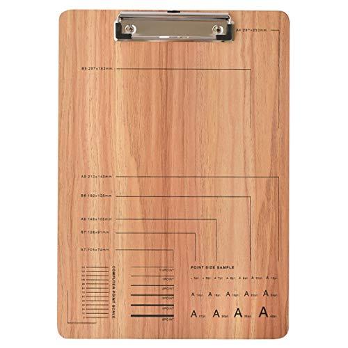 クリップボード 木製 A4 おしゃれ ナチュラル ブラウン ウッド A4サイズ バインダー クリップファイル ステーショナリー 文具 事務用品 カフェ サロン