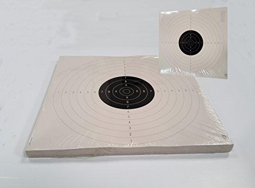 Klamer Paquete 100 dianas Tiro Olímpico - modalidad Pistola Libre, Standard 50-25 Metros. tamaño 55-52 Cm. Fabricado en cartoncillo Dorso Madera 250 grs. antirreflejos.