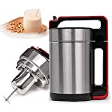 FSGHJJKN 1.5 Liter Automatic Hot Soy Milk, Soy Milk Maker & Soup Maker with All Stainless Steel Inside with Insulation Function and Filter Strainer