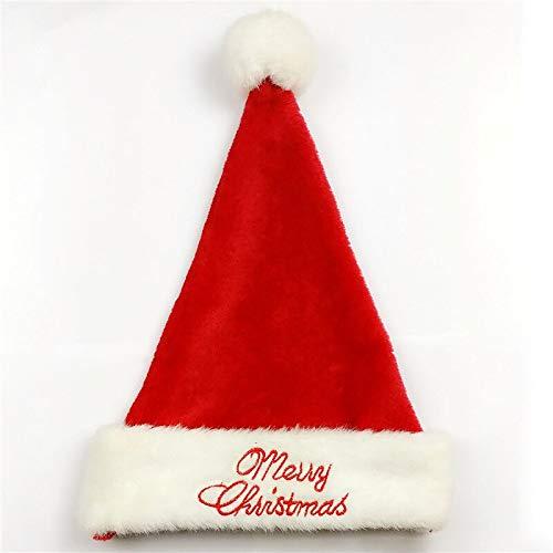 shenlanyu Sombrero de Pap Noel 1pc Rojo Feliz Navidad Sombreros Ms Gruesos Bordados Navidad Tapas Para Nios Adultos Decoracin Regalos de Ao Nuevo Casa Fiesta Sombreros Rojo