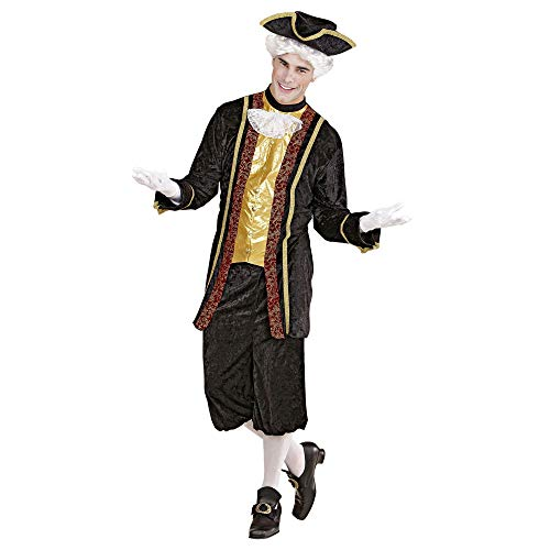 WIDMANN Nobiluomo Veneziano Casacca Conjabot Pantaloni Cappello Costumi Completo 734 Uomo, Multicolore, (M), 8003558441020