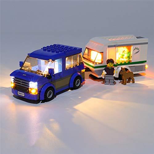HLEZ Conjunto de Luces Lluminación para Grandes vehículos Van y caravanas Modelo de Bloques de Construcción, Juego de Luces LED Compatible con Lego 60117 (Modelo Lego no Incluido)