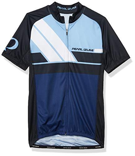 PEARL IZUMI Men's Ride Elite Escape LTD Jersey, Diagonal Blue, Medium