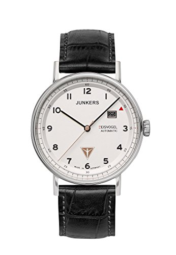 Junkers Herren Analog Automatik Uhr mit Leder Armband 67541