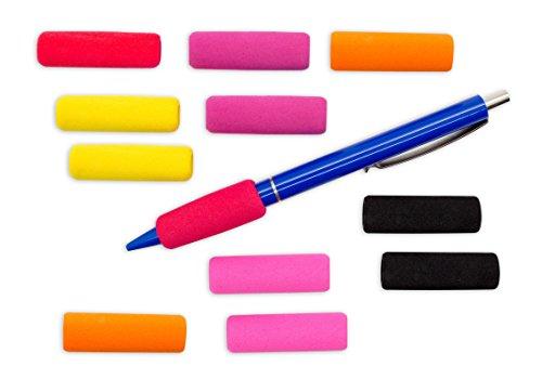 Schreibhilfen | Griffverdickung | Schaumstoff | Ergonomische Stiftehalter | 12 Stück in verschiedenen Farben | Soft Standard | 12er |