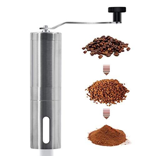 Manual Coffee Grinder Hand Grinder Coffee Mill, Conical Ceramic Burr Mill for Precision, Aeropress, Drip Coffee, Espresso, French Press, Turkish Brew