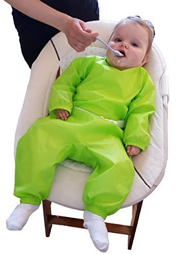 Ganzkörper-Lätzchen Baby-Lätzchen mit Armen und Beinen - GRÜN - zum Start der Beikost für Mädchen Jungen Kleinkind - Kinderlätzchen Ärmel-lätzchen Malschürze Geschenk zur Geburt - MIND CARE ESSENTIALS