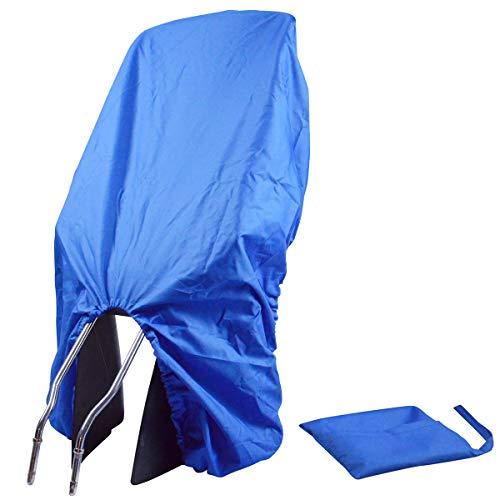 TROCKOLINO Regenschutz - wasserdichte Abdeckung für Fahrradkindersitz - Kindersitz Fahrrad hinten - gegen Schmutz und Nässe, blau