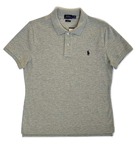Ralph Lauren Polo-Shirt für Damen, Skinny Fit, Grau X-Large