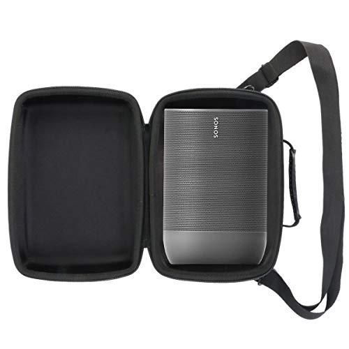 Khanka Hart Tasche Schutzhülle Für Sonos Move Smart Speaker Bluetooth Lautsprecher Etui Case. (Schwarz Futter)