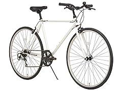 RIPSTOP リップストップ 自転車 クロスバイク 27インチ 7段変速 RSC-01 pace ペース ホワイト 510mm 50550