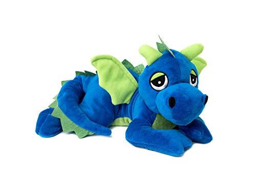 Habibi® - Coussin chauffant classique en forme de dragon - Pour micro-ondes - Bleu roi