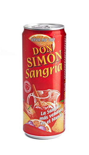 Sangría Don Simón 7% Alkoholgehalt EINWEG (24 x 0.33 l) Rotwein, wein adventskalender, wein geschenk, rotwein trocken, dekanter rotwein, wein geschenkset, wein set
