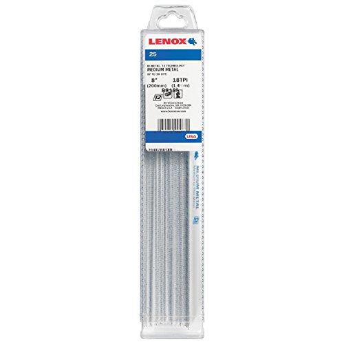 LENOX Tools Metal Cutting Reciprocating Saw Blade with Power Blast Technology, Bi-Metal, 8-inch, 18 TPI, 25/PK, Model:20487B818R