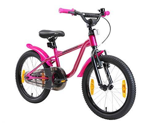 LÖWENRAD Kinderfahrrad für Jungen und Mädchen ab 5 Jahre | 18 Zoll Kinderrad mit Bremse | Fahrrad für Kinder | Berry