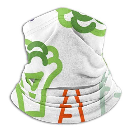 Lzz-Shop Grappige groente halswarmer - hoofdband sjaal hoofdwikkel, hals gamasche buis vissen, gezicht sport sjaal