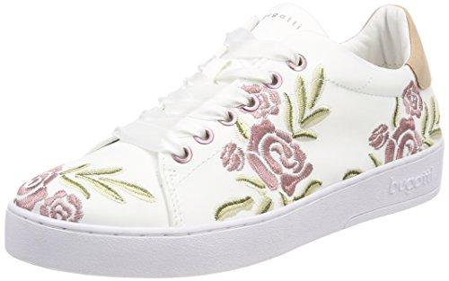 bugatti Damen 421291056959 Sneaker, Weiß (White/Multicolour), 38 EU