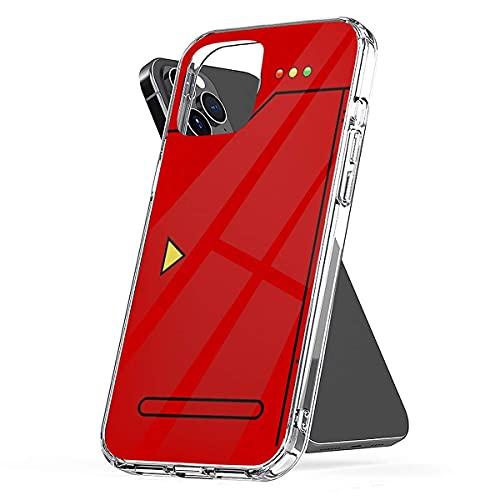 SunnyTee Pokedex s Tough Drop Charm Pure Clear Fundas para teléfono iPhone 12/11 Pro MAX 12 Mini SE X/XS MAX XR 8 7 6 6s Plus Funda