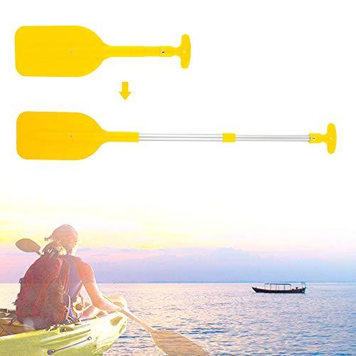 Maalr Remo doble para kayak, remo de Boat Oars – aleación de aluminio con palas ajustables para kayak, canoa, barco, remo, barco (amarillo)