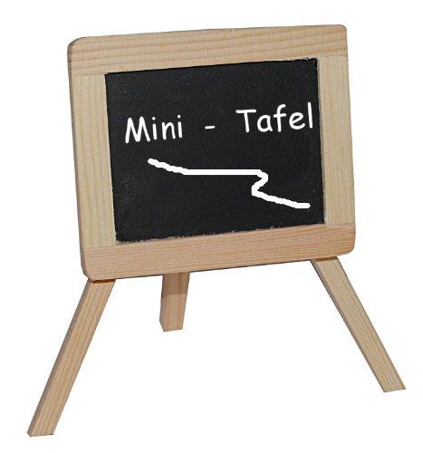 alles-meine.de GmbH 3-D Figur Schultafel / Kreidetafel - z.B. als Namenskärtchen / Platzkarte / Tischkarte Tischdeko aus Holz - zur Schuleinführung - Einschulung Schulanfang
