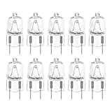 Bonlux 10-Pack G8 Halogen Light Bulbs, 35W Dimmable G8 Base Bi-Pin Shorter 120V T4 JCD Type G8 Halogen Lamp for Puck Light, Under Cabinet Light, Microwave Light, Accent Light (Warm White 2700K)