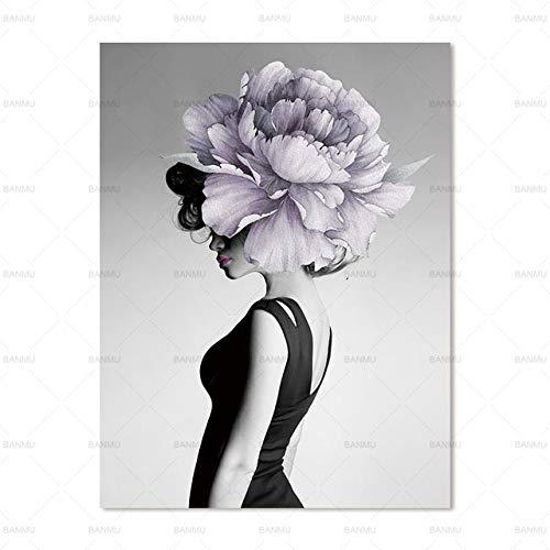 tzxdbh Immagini Moderne da Parete Immagini da Parete Arte Astratta Stampa Figura su Tela Pittura Stampa Artistica Tela Immagine Decorazione Poster Arte Ritratto