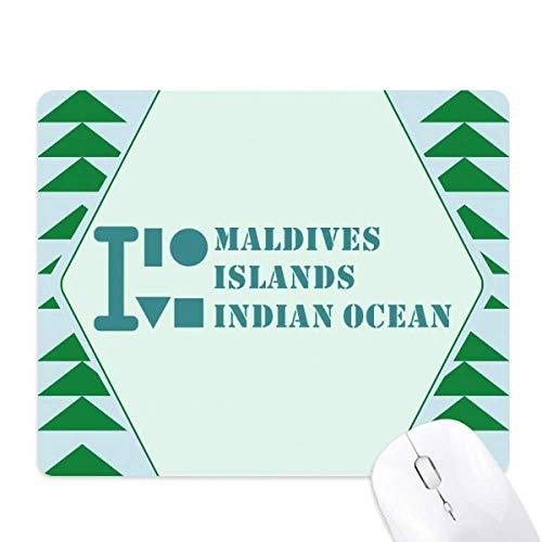 les maldives océan indien tapis de souris green pine tree tapis en caoutchouc