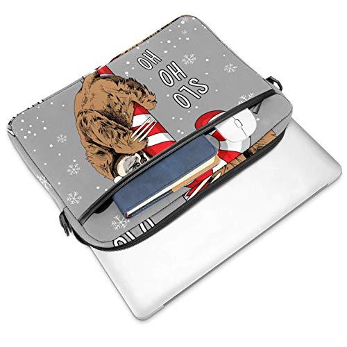 Sloth on a Big Lollipop bolsa de mensajero bolso delgado maletín con bandolera bolso de ordenador y tableta para 13.4-14.5 pulgadas