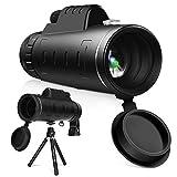 YISSVIC Telescopio Monocular 40 X 60 HD Zoom Óptico Telescopio Impermeable y a Prueba de...