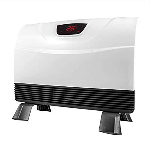DWJ Radiador eléctrico eléctrico de Pared for Interiores 2000W Radiador eléctrico, radiador de Ventilador portátil Vertical Ajustable a Temperatura, Control Remoto silencioso Impermeable