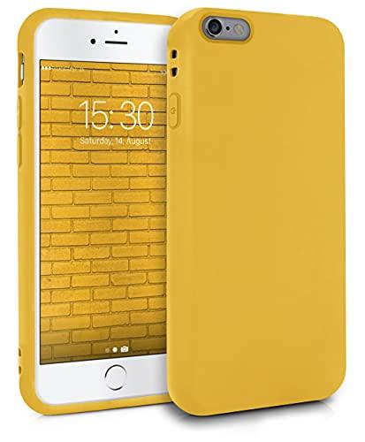 MyGadget Coque Silicone pour Apple iPhone 6 / 6s - Case TPU Souple & Soft - Cover Protection Extra Fine & Légère - Étui Coloré Anti Choc et Rayures - Jaune