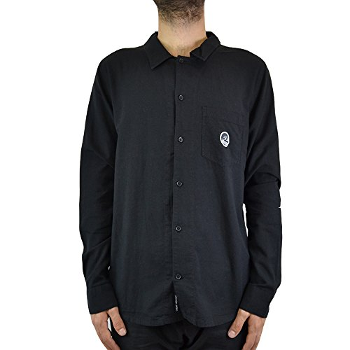 Cheap Monday Camicia Uomo DECIPHER Shirt 449669 (M - Black)