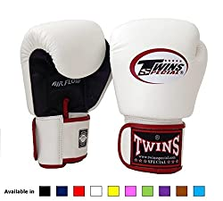 commercial Twins Special Muay Thai Boxing Gloves (Airflow – Black / White / Red, 10 oz) twins boxing gloves