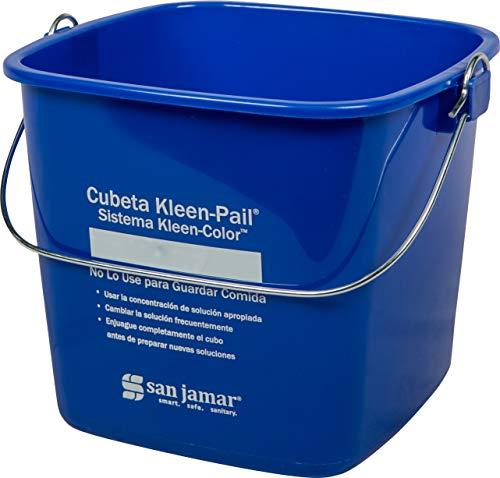 San Jamar KP196KCBL Kleen-Pail Commercial Cleaning Bucket, 6 Quart, Blue