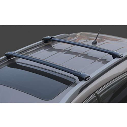 RUIX Barras De Techo - Portaequipajes De Barras Cruzadas Vehículo Todoterreno Universal Portabobinas De Aluminio SUV,Black