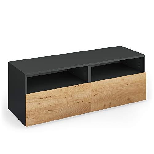 Vicco TV Lowboard Compo Sideboard Fernsehtisch Kommode Schrank (anthrazit/Eiche)