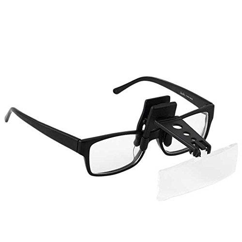 Pinza Lupa para Gafas con lentes intercambiables 1.50x 2.50x 3.50x
