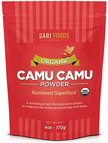 Pure Organic Camu Camu (6 Ounce): Natural Vegan Whole Food Vitamin C and Antioxidant Powder by Sari Foods Company