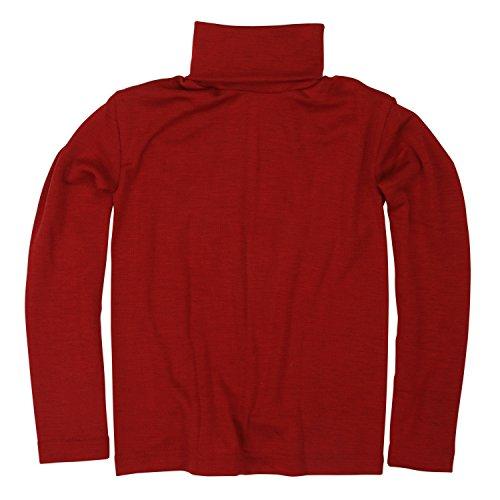 Cosilana - Jersey para niños (70% lana, 30% seda) rojo 8 años