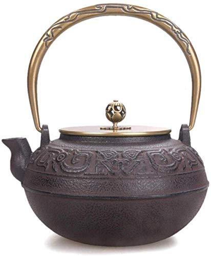 YNHNI Reparto de teteras Tetera de Hierro Fundido Mano de Hierro Caldera Antigua Tetera de Juego de té hervido Agua Caldera de té Tea Pot
