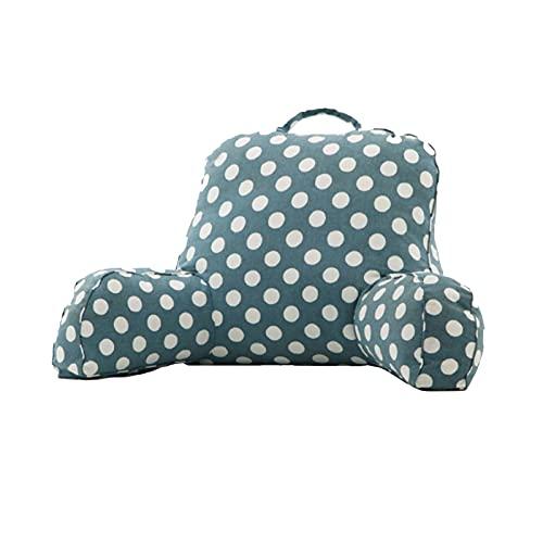 KUAIE Almohada de reposo de cama, cojín de apoyo lumbar, desmontable con reposabrazos, almohada para silla de cama, para relajarse ver la televisión (color: F, tamaño: 55 x 40 x 20 cm)