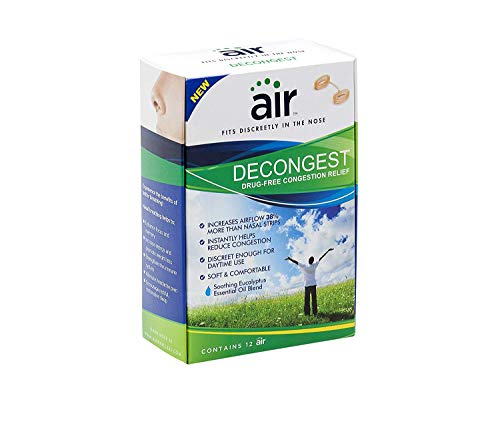 Aiware air DECONGEST - Drug-Free Decongestant Nasal Breathing Aid, 12 ct
