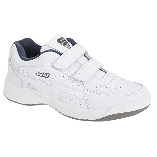 Dek Arizona Herren Sneaker/Turnschuhe mit Klettverschluss (43 EUR/9 UK) (Weiß)