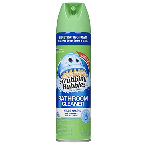 Scrubbing Bubbles Antibacterial Bathroom Cleaner and Disinfectant Aerosol, Fresh Clean, 22 OZ (Pack Of 3)
