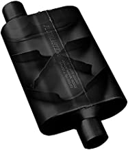 Flowmaster 43043 40 Series Muffler - 3.00 Offset IN / 3.00 Offset OUT - Aggressive Sound, Black