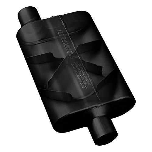 Flowmaster 42443 40 Series Muffler – 2.25 Offset IN / 2.25 Offset OUT – Aggressive Sound, Black